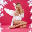 Lonely angel — Stock Photo