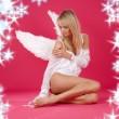 Lonely angel — Stock Photo
