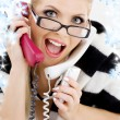 Screaming businesswoman - Stock Photo