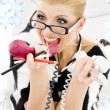 Screaming businesswoman — Stock Photo #11768443
