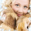 Blonde in fur — Stock Photo