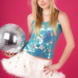 Stock Photo: Party dancer with disco ball