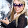 Party girl with disco ball — Stock Photo #11769140