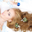Lovely woman with christmas decorations — Stock Photo #11769193