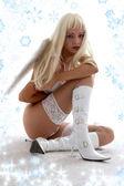Onschuldige kerstmis engel — Stockfoto