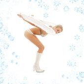 学习跟雪花一起飞翔 — 图库照片