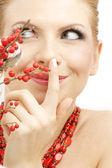 Ashberry roja chica — Foto de Stock