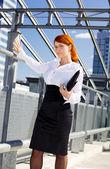 Confident businesswoman — Stockfoto