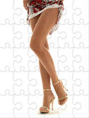 Perfect legs puzzle — Stock Photo