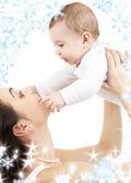 快乐妈妈与宝贝儿子 — 图库照片