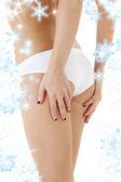 健康回来的白色内裤 — 图库照片