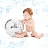 Glitterball baby — Stock Photo