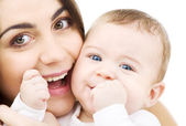 Baby and mama — Stock Photo