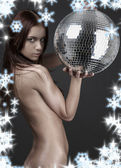 Wild thing with glitterball — Stock Photo