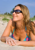 Beach girl — Stockfoto
