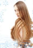 Long hair — ストック写真