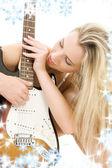 Guitar girl — Stock Photo