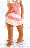 Vestido rosa — Foto de Stock