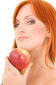 Czerwone jabłko — Zdjęcie stockowe