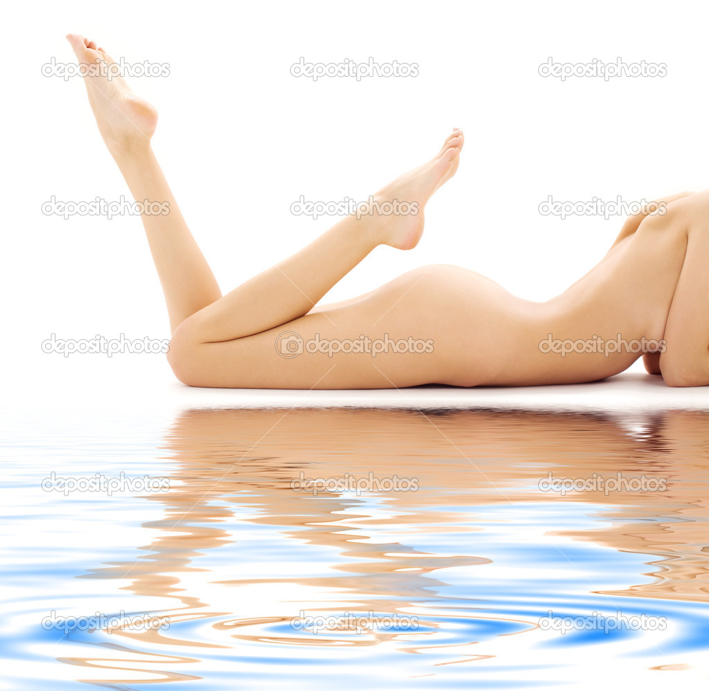 Torso of relaxed naked woman over white — Stock Photo #11767219