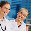 Happy businesswomen — Stock Photo
