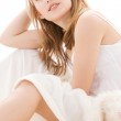 Teenage girl in bed — Stock Photo #11770588