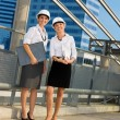 Young contractors — Stock Photo