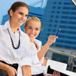 Two happy businesswomen — Stockfoto