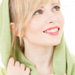 Green kerchief — Stock Photo