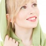 Green kerchief — Stock Photo