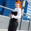 Stock Photo: Happy businesswoman