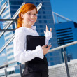 Happy businesswoman — Stock Photo