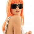 Girl in shades with orange hair — Stock Photo #11772270