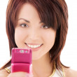Happy woman with cell phone — Stock Photo #11773054