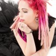 Pink hair girl - Stock Photo