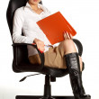 Office lady in chair — Stock Photo