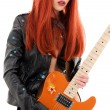 Guitar babe — Stock Photo