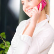 Lovely woman with cell phone — Stock Photo