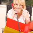 Office girl — Stock Photo