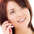 Happy woman with cell phone — Stock Photo #11774159