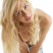 Blond in blue jeans — Stock Photo #11774608