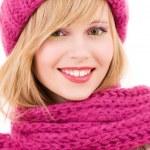 Happy teenage girl in hat — Stock Photo #11775047