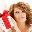 Angel with gift — Stock Photo #11775094