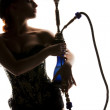 Woman with hookah — Stock Photo #11775487