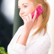 Lovely woman with cell phone — Stock Photo #11775528