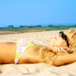Tanning blond — Stock Photo #11775787