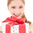 Happy girl with gift box — Stock Photo #11775954