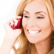 Happy woman with cell phone — Stock Photo #11776145