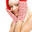 Santa helper girl - Foto de Stock