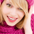 Happy teenage girl in hat - Foto de Stock